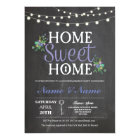 New Housewarming Sweet Home Key Chalkboard Invite