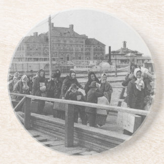 New Immigrants Landing at Ellis Island New York Coaster
