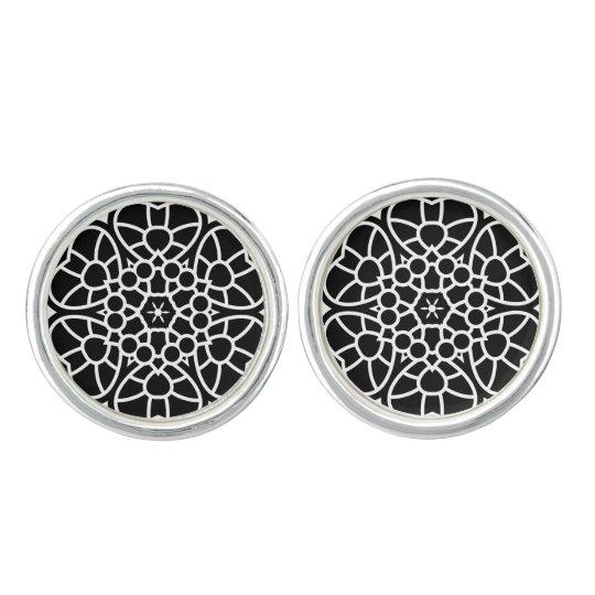 New in Shop : designers cufflinks / BLACK Mandala