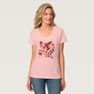 New in shop : pink tshirt with Flowers