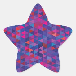 New in shop : star with diamond structure Purple Star Sticker