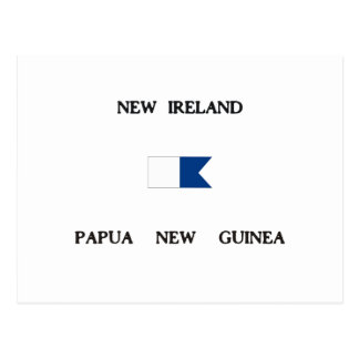 New Ireland Papua New Guinea Alpha Dive Flag Postcard