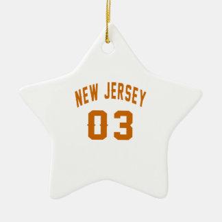 New Jersey  03 Birthday Designs Ceramic Star Ornament