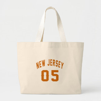 New Jersey  05 Birthday Designs Large Tote Bag