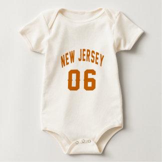 New Jersey  06 Birthday Designs Baby Bodysuit