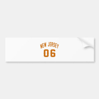 New Jersey  06 Birthday Designs Bumper Sticker