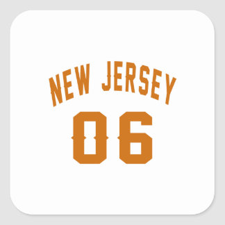 New Jersey  06 Birthday Designs Square Sticker