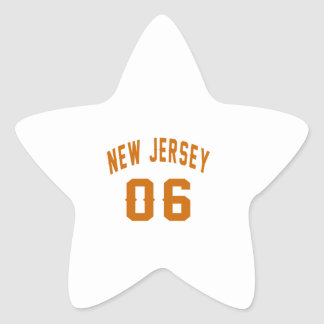New Jersey  06 Birthday Designs Star Sticker