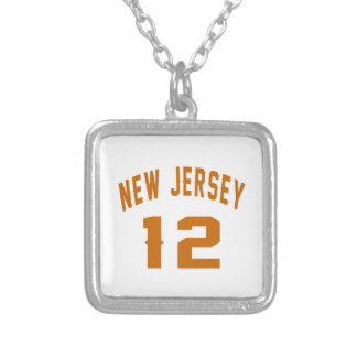 New Jersey  12 Birthday Designs Silver Plated Necklace