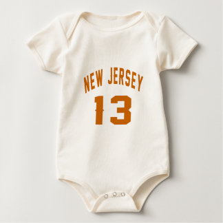 New Jersey  13 Birthday Designs Baby Bodysuit
