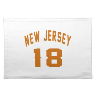 New Jersey  18 Birthday Designs Placemat