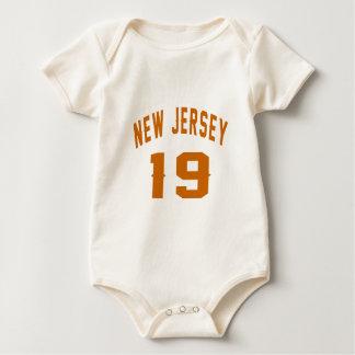 New Jersey  19 Birthday Designs Baby Bodysuit