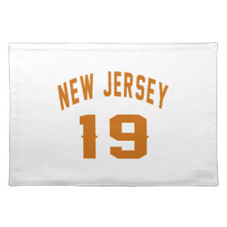 New Jersey  19 Birthday Designs Placemat