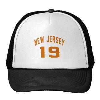 New Jersey  19 Birthday Designs Trucker Hat