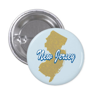 New Jersey 1 Inch Round Button