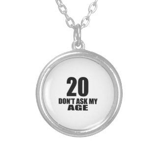 New Jersey 20 Birthday Designs Silver Plated Necklace