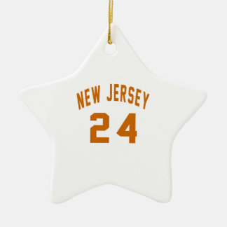 New Jersey  24 Birthday Designs Ceramic Star Ornament