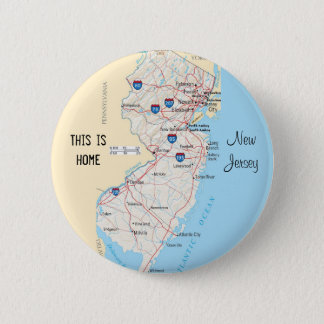 New Jersey 2 Inch Round Button