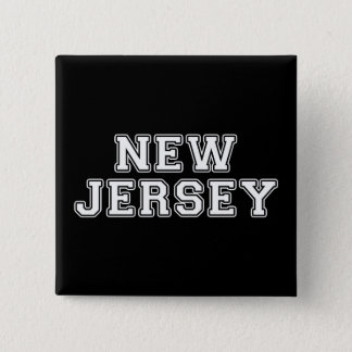 New Jersey 2 Inch Square Button