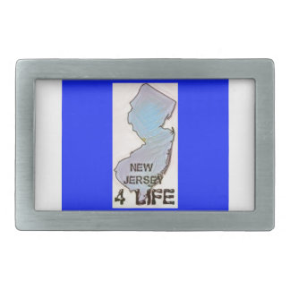 """New Jersey 4 Life"" State Map Pride Design Belt Buckles"