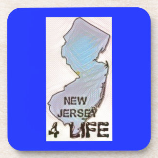 """""""New Jersey 4 Life"""" State Map Pride Design Coaster"""