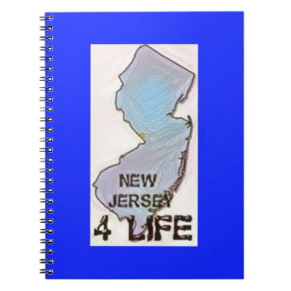 """""""New Jersey 4 Life"""" State Map Pride Design Notebook"""