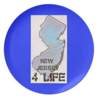 """""""New Jersey 4 Life"""" State Map Pride Design Plate"""