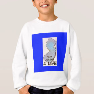 """New Jersey 4 Life"" State Map Pride Design Sweatshirt"