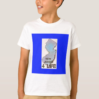 """""""New Jersey 4 Life"""" State Map Pride Design T-Shirt"""