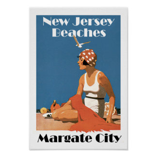 New Jersey Beaches ~ Margate City Poster