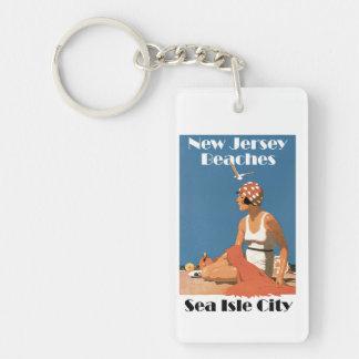 New Jersey Beaches ~ Sea Isle City Keychain