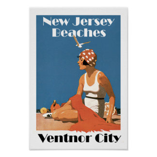 New Jersey Beaches ~ Ventnor City Poster