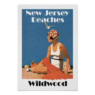 New Jersey Beaches ~ Wildwood Poster