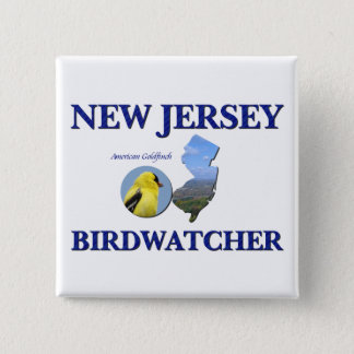 New Jersey Birdwatcher 2 Inch Square Button