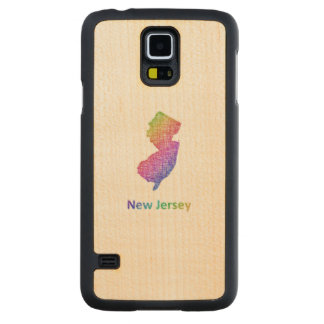 New Jersey Carved Maple Galaxy S5 Case