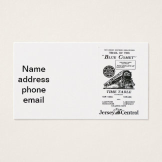 New Jersey Central Blue Comet Train Business Cards
