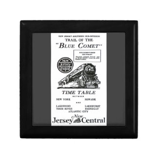 New Jersey Central Blue Comet Train Giftbox Keepsake Box