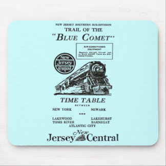 New Jersey Central Blue Comet Train Mouse Pad