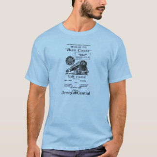 New Jersey Central Blue Comet Train T-Shirt
