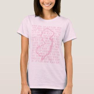 New Jersey Distress Pink T-Shirt