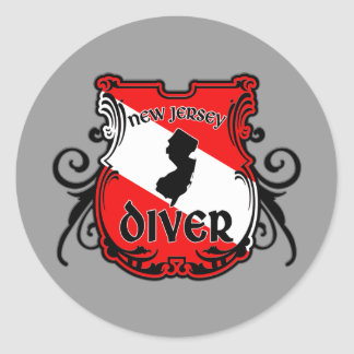 New Jersey Diver Classic Round Sticker