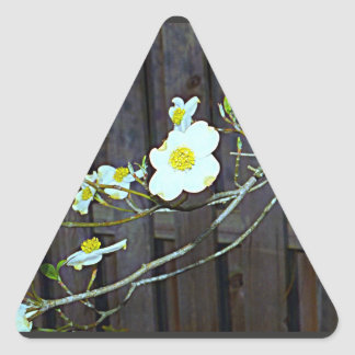 New Jersey Dogwood Triangle Sticker