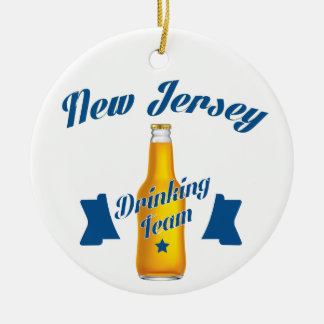 New Jersey Drinking team Ceramic Ornament