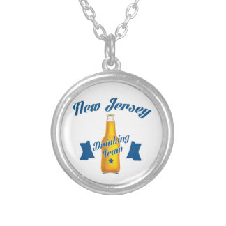 New Jersey Drinking team Silver Plated Necklace