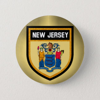 New Jersey Flag 2 Inch Round Button
