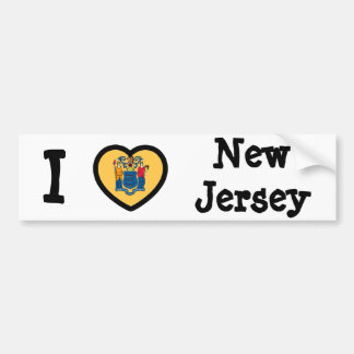 New Jersey Flag Bumper Sticker