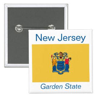 New Jersey Flag Button