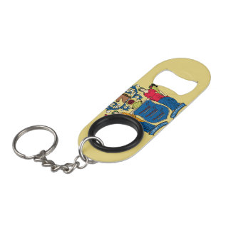 New Jersey Flag Keychain Bottle Opener