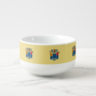New Jersey Flag Soup Mug