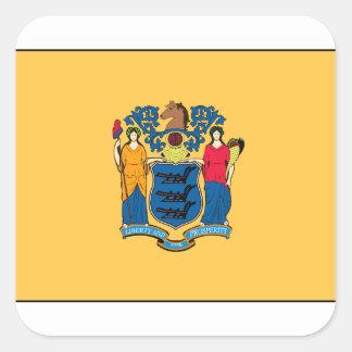 New Jersey Flag Square Sticker